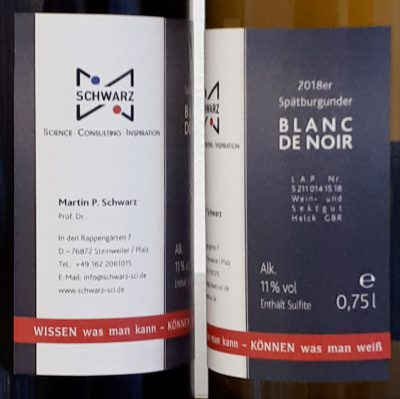 Etiketten Weinflaschen Martin Schwarz