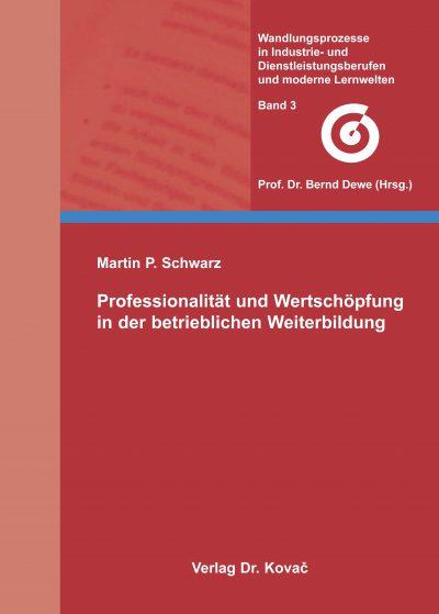 Cover Professionalität und Wertschöpfung